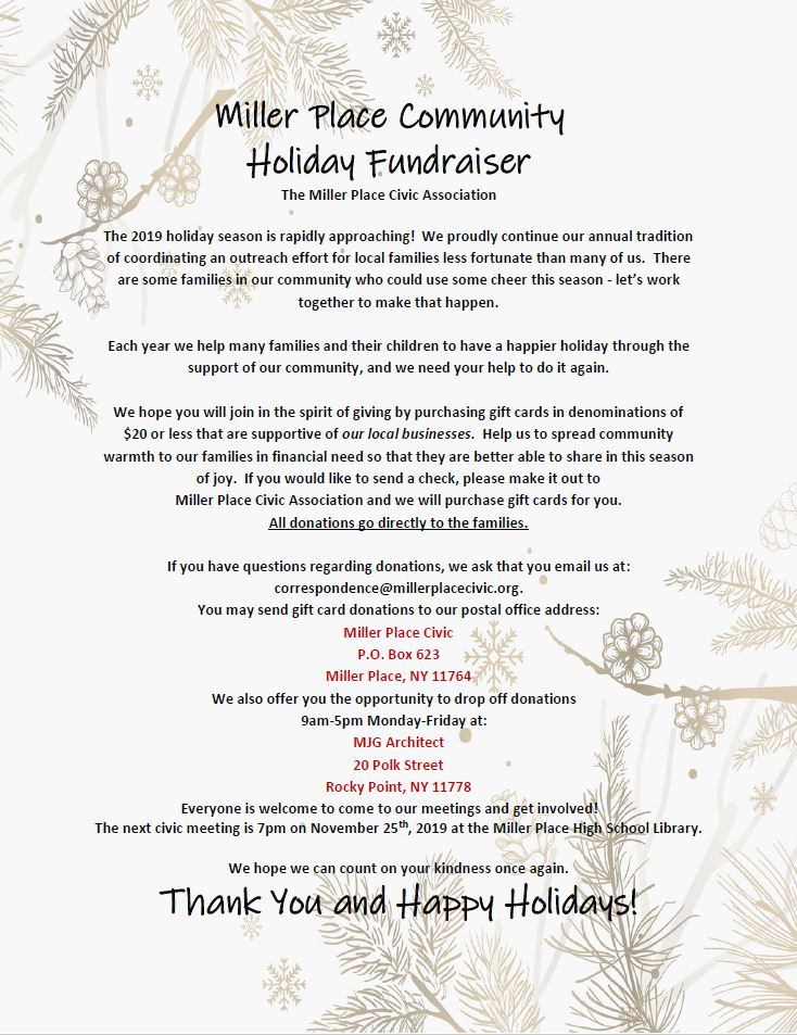 2019 Holiday Fund Drive